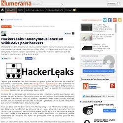 HackerLeaks : Anonymous lance un WikiLeaks pour hackers