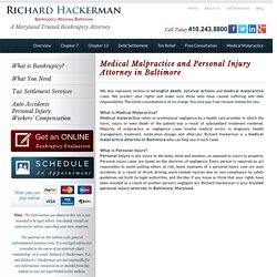 Richard Hackerman – Personal Injury Attorney Baltimore