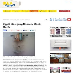 Bygel Hanging Shower Rack Hack