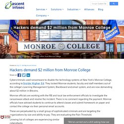 Hackers demand $2 million from Monroe College