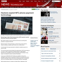 Hackers exploit NFC phone payment technology
