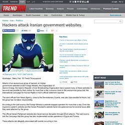 Hackers attack Iranian government websites
