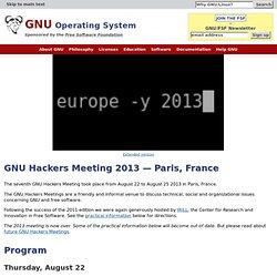 Hackers Meeting 2013 — Paris, France