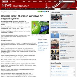 Hackers target Microsoft Windows XP support system