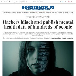 Hackers hijack and publish mental health data of hundreds of people