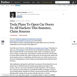 Tesla Plans To Open Car Doors To All Hackers This Summer, Claim Sources