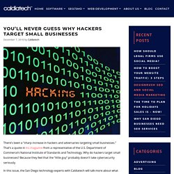 You'll Never Guess Why Hackers Target Small Businesses
