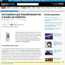 Ces hackers qui transforment les e-books en tablettes