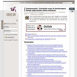 Entretien avec le hackerspace Osilab (laboratoire lillois militant)