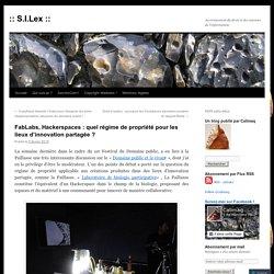 FabLabs, Hackerspaces : quel régime de propriété pour les lieux d'innovation partagée