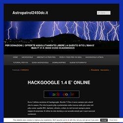 HACKGOOGLE 1.4 E' ONLINE