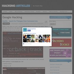 Google Hacking Archives - Hacking Articles