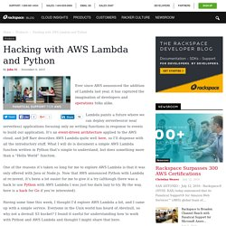 Hacking with AWS Lambda and Python