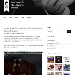 Hacking the Brother KM-950i to Knit Multi-Colour Patterns – Heart of Pluto