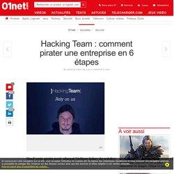 Hacking Team : comment pirater une entreprise en 6 étapes