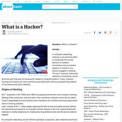 Hacking - What is a Hacker in Computer Networking?
