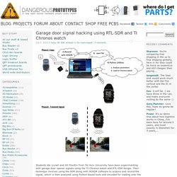Garage door signal hacking using RTL-SDR and TI Chronos watch