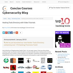 The Web's #1 Hacking Tools Directory - with tutorial videos!