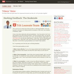 Hacking Feedback: The Bookends
