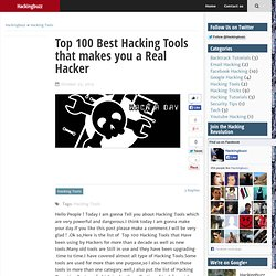 Top 100 Best Hacking Tools that makes you a Real Hacker