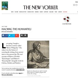 Hacking the Humanities