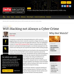 WiFi Hacking not Always a Cyber Crime