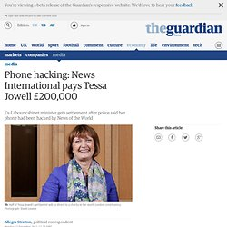 Phone hacking: News International pays Tessa Jowell £200,000