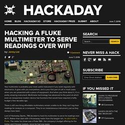 Hacking A Fluke Multimeter To Serve Readings Over WiFi