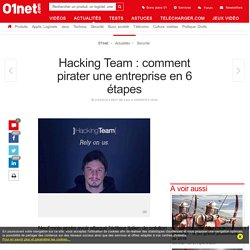 Hacking Team : comment pirater une entreprise en 6 étapes