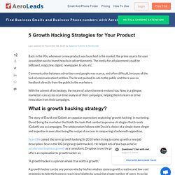 5 Growth Hacking Strategies to Increase Your Brand