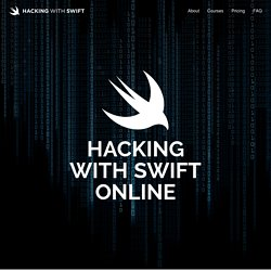 Hacking with Swift – learn to code iPhone and iPad apps with free Swift 3 tutorials