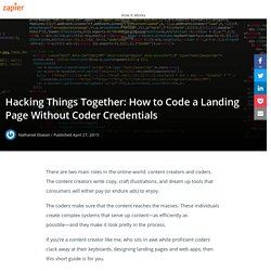 Hacking Things Together: How to Code a Landing Page Without Coder Credentials