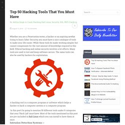 Top 50 Hacking Tools That You Must Have
