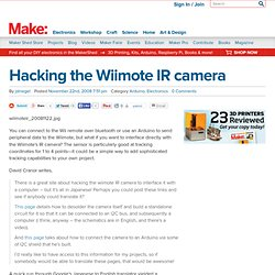 Hacking the Wiimote IR camera