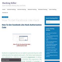 hackingkiller - How To Get Facebook Like Hack