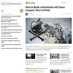 How to Build a Hackintosh with Snow Leopard, Start to Finish - Feature - Lifehacker