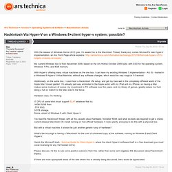 Hackintosh Via Hyper-V on a Windows 8+client hyper-v system: possible? - Ars Technica OpenForum