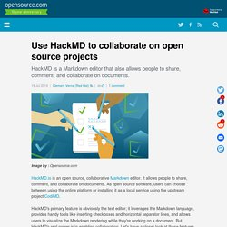 Use HackMD to collaborate on open source projects