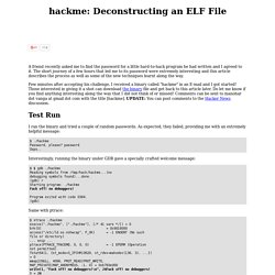 hackme: Deconstructing an ELF File