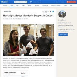 Hacknight: Better Mandarin Support in Quizlet
