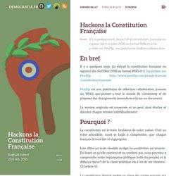Hackons la Constitution Française