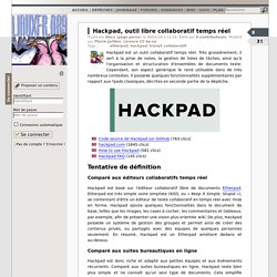 Hackpad, outil libre collaboratif temps réel