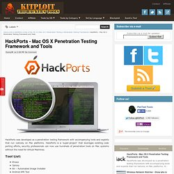 HackPorts - Mac OS X Penetration Testing Framework and Tools