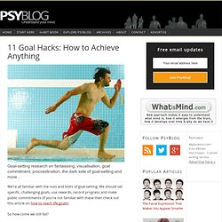 11 Goal Hacks: How to Achieve Anything — PsyBlog