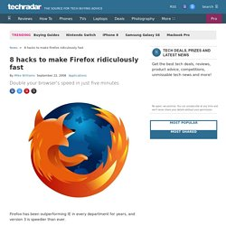 8 hacks to make Firefox ridiculously fast