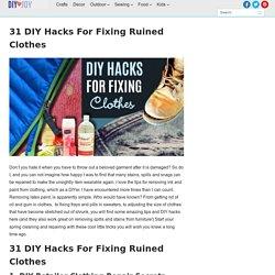 31 DIY Hacks for Fixing Ruined Clothes - DIY Joy
