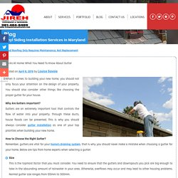Hacks at Home: What You Need to Know About Gutter