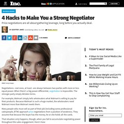 4 Hacks To Make You a Strong Negotiator