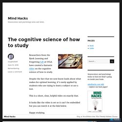 Mind Hacks – Page 2 – Neuroscience and psychology news and views.