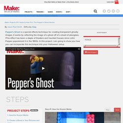 DIY Hacks & How To's: The Pepper's Ghost Illusion